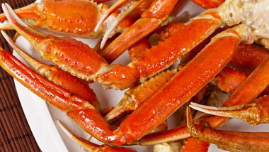 plate of crab legs
